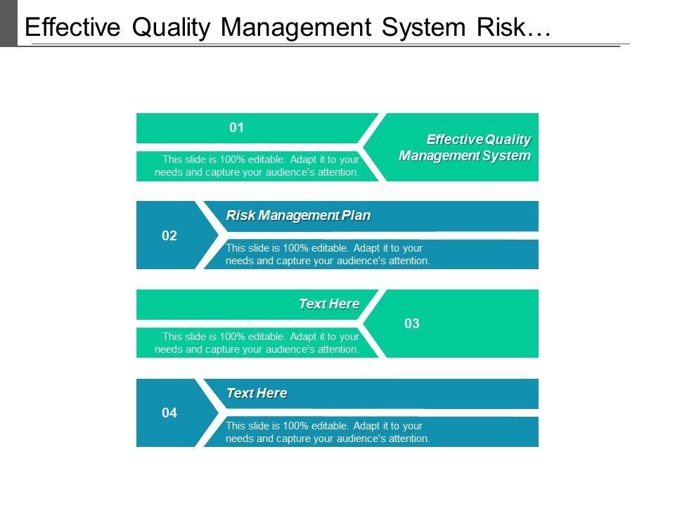 Effective Quality Management System Risk Management Plan ...