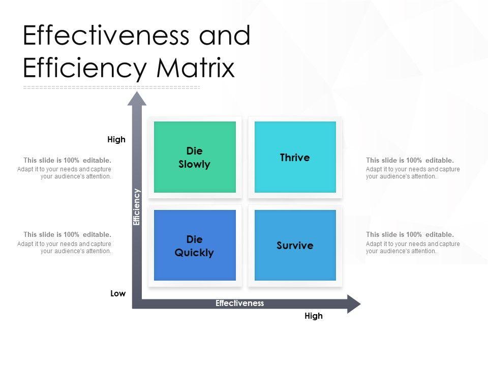 Effectiveness And Efficiency Matrix