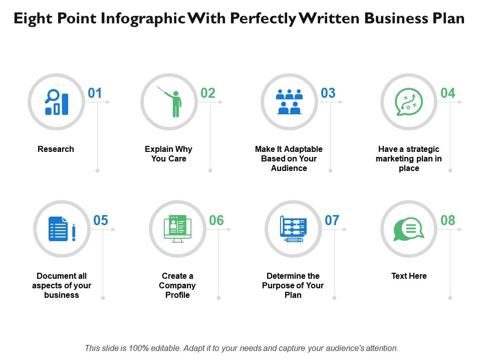 eight_point_infographic_with_perfectly_written_business_plan_Slide01