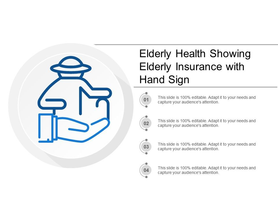 elderly_health_showing_elderly_insurance_with_hand_sign_Slide01
