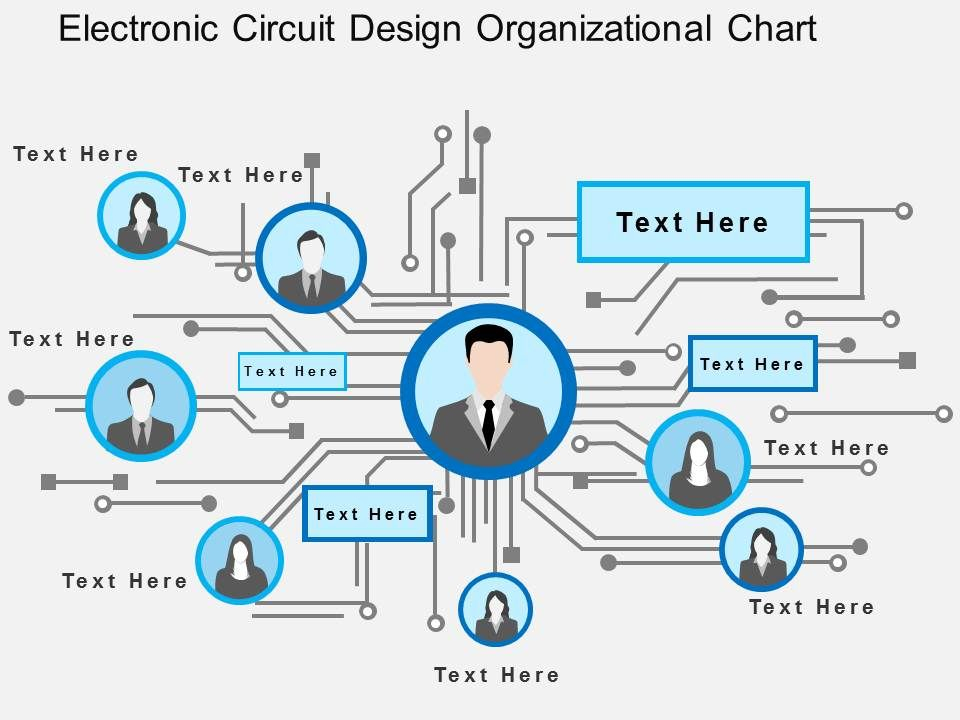 electronic circuit design organizational chart flat powerpoint design. Black Bedroom Furniture Sets. Home Design Ideas