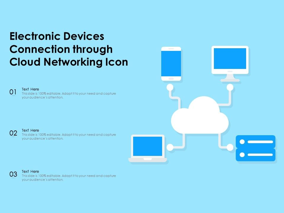 Electronic Devices Connection Through Cloud Networking Icon