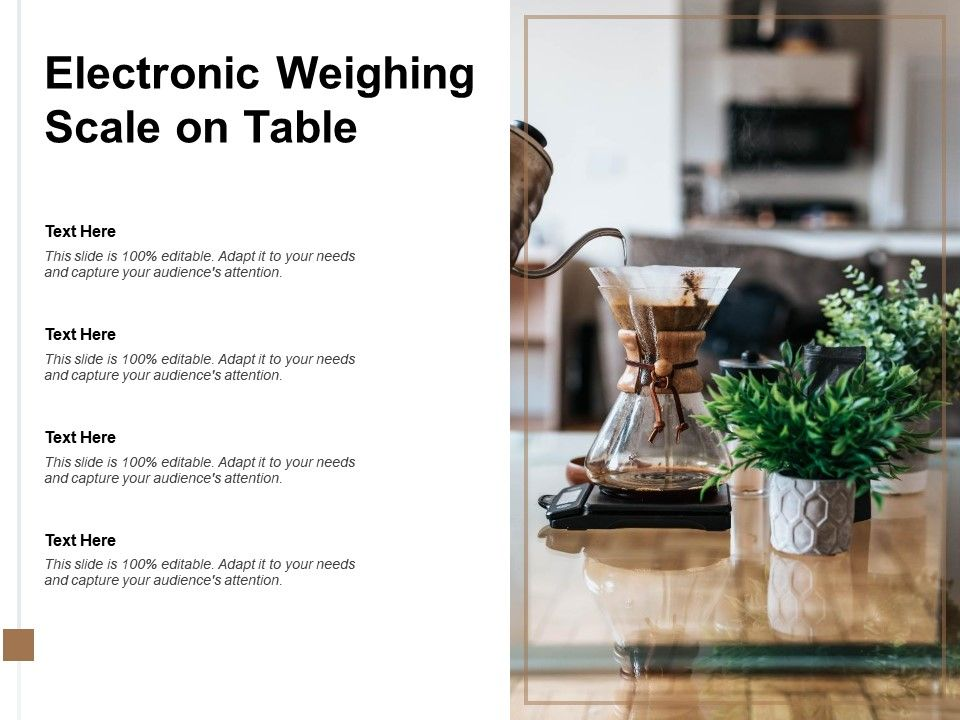 Electronic Weighing Scale On Table
