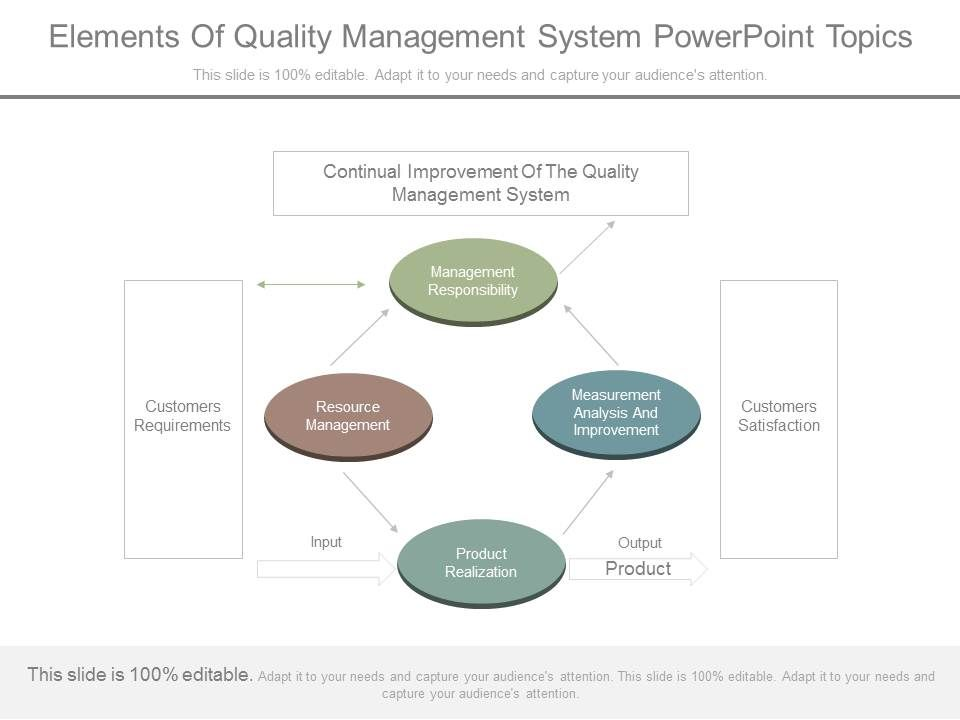 Elements Of Quality Management System Powerpoint Topics | PowerPoint