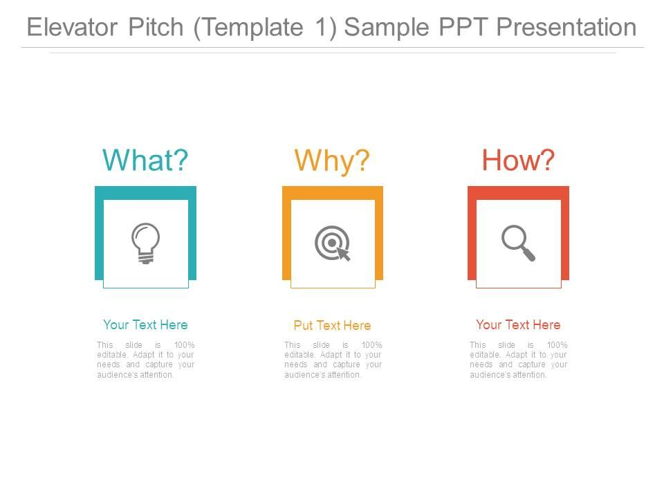 Elevator Pitch Template 1 Sample Ppt Presentation Templates