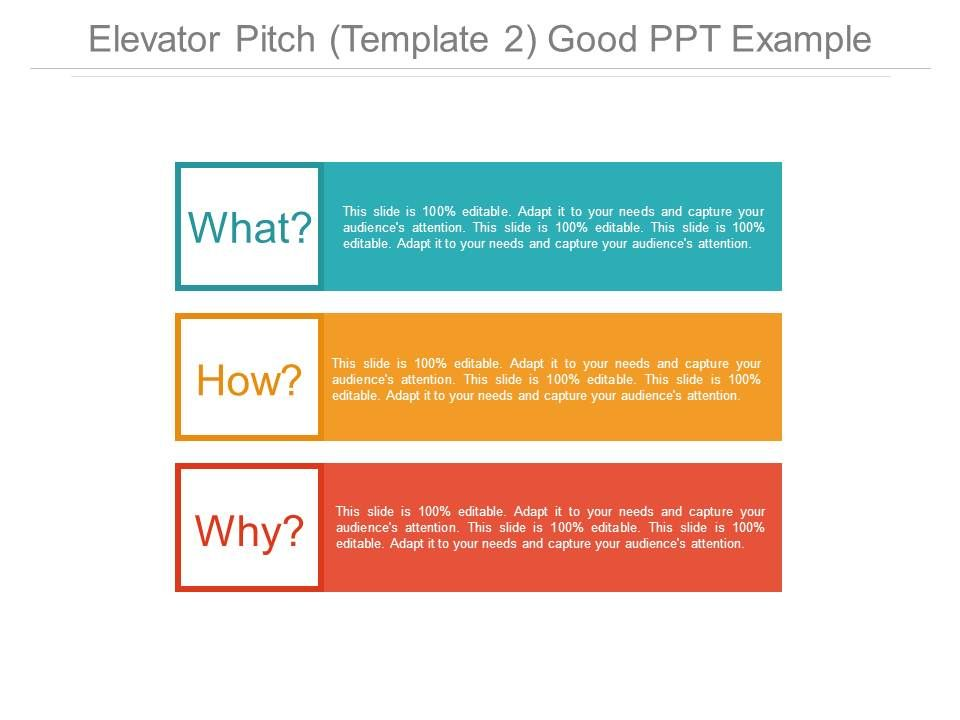 Elevator Pitch Template  Good Ppt Example  Templates Powerpoint