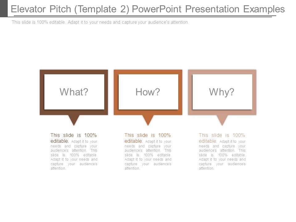 Elevator Pitch Template  Powerpoint Presentation Examples