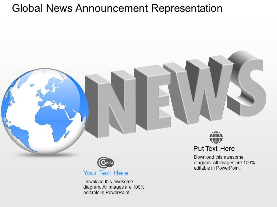 Em Global News Announcement Representation Powerpoint Template