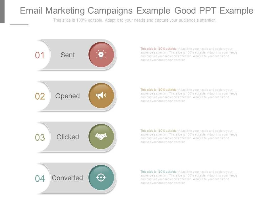 Email Marketing Campaigns Example Good Ppt Example | Template Presentation  | Sample Of PPT Presentation | Presentation Background Images