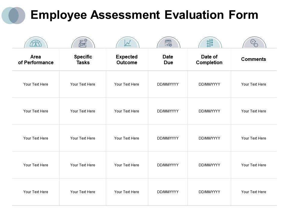 Employee Assessment Evaluation Form Specific Tasks Comments Ppt Powerpoint Presentation