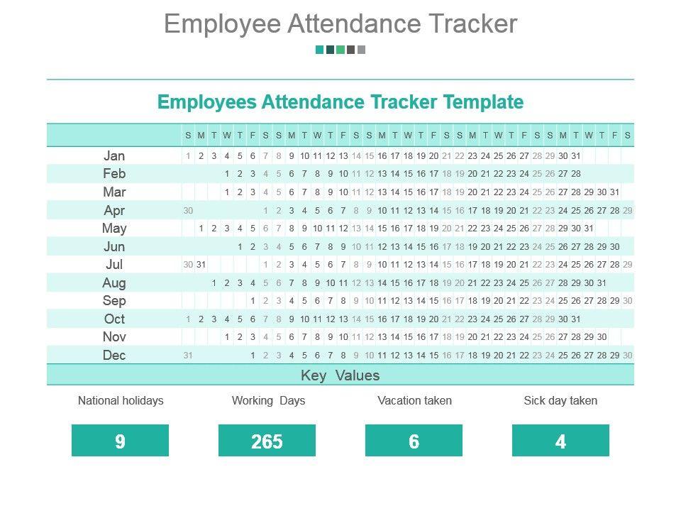 employee attendance tracker powerpoint slide designs download