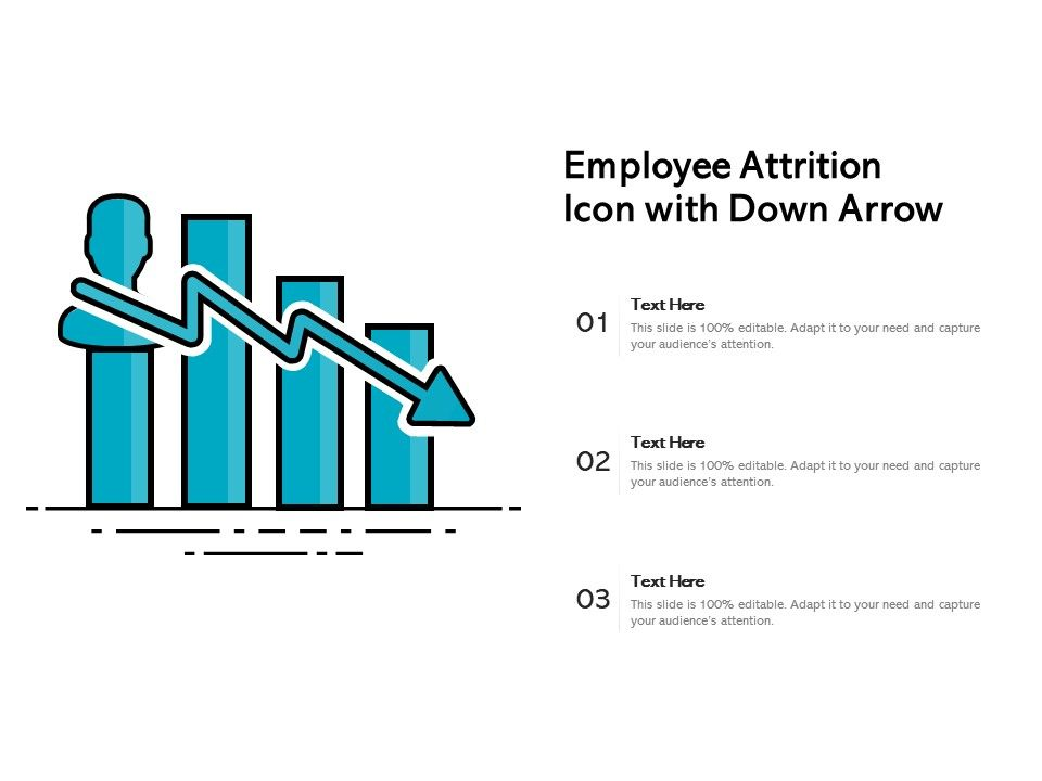 Employee Attrition Icon With Down Arrow