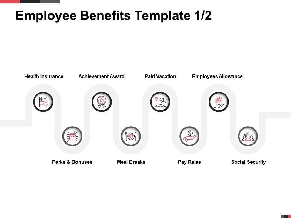 Employee Benefits Template Paid Vacation Ppt Powerpoint Presentation Infographic