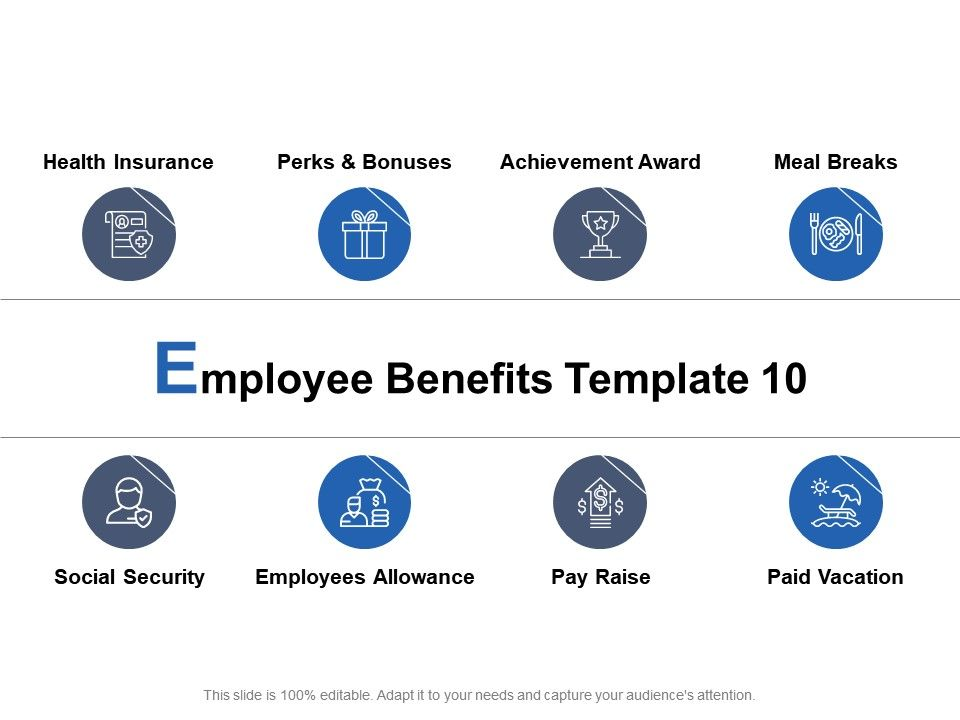 Employee Benefits Template Pay Raise And Achievement Award Ppt Powerpoint Presentation Summary Professional