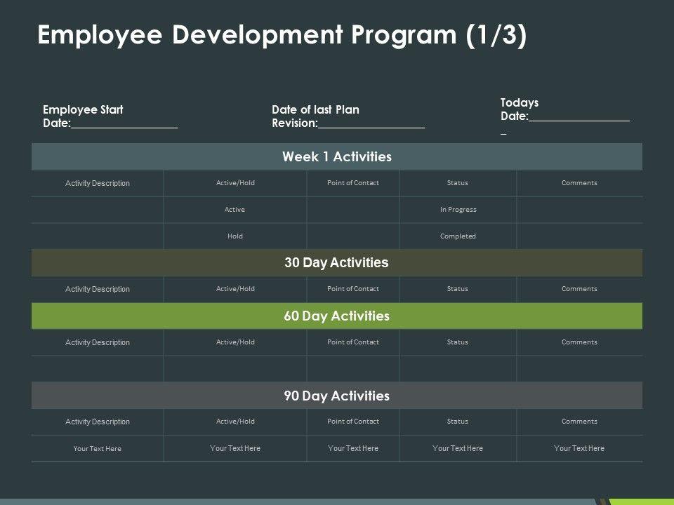 Employee Development Program 1 3 Ppt Powerpoint Presentation