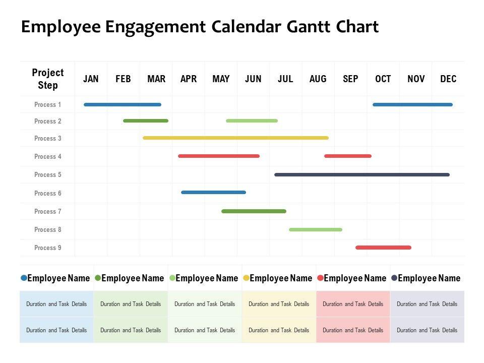 Employee Engagement Calendar Gantt Chart