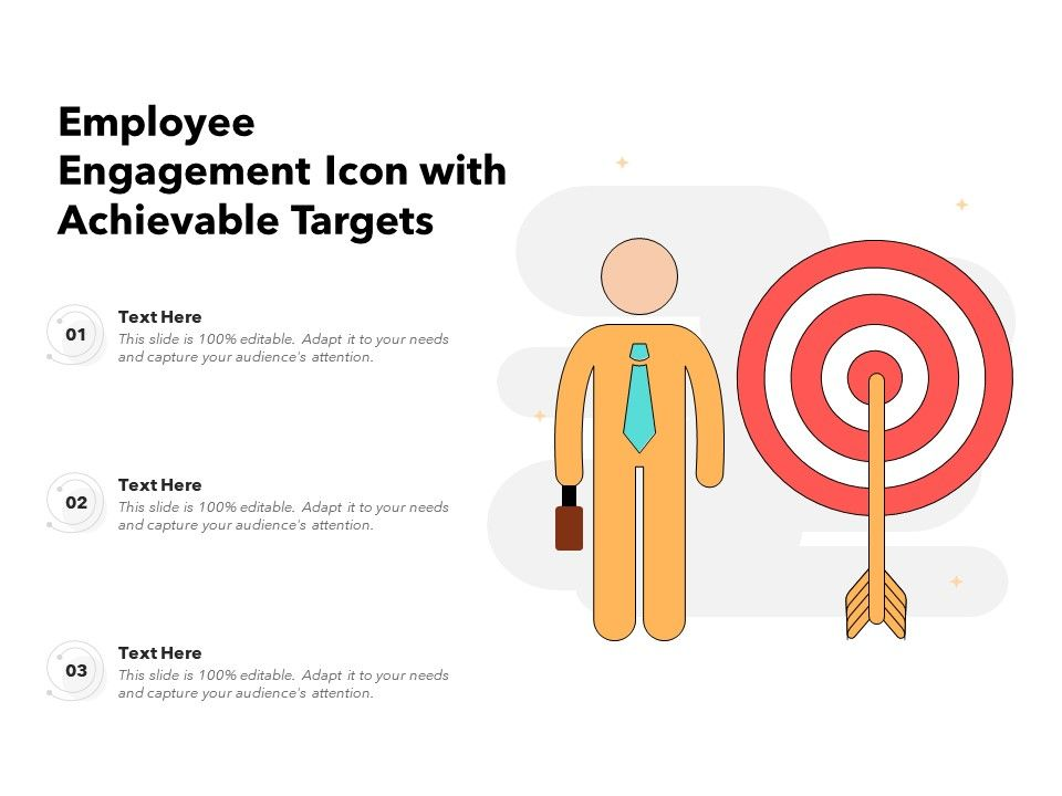 Employee Engagement Icon With Achievable Targets