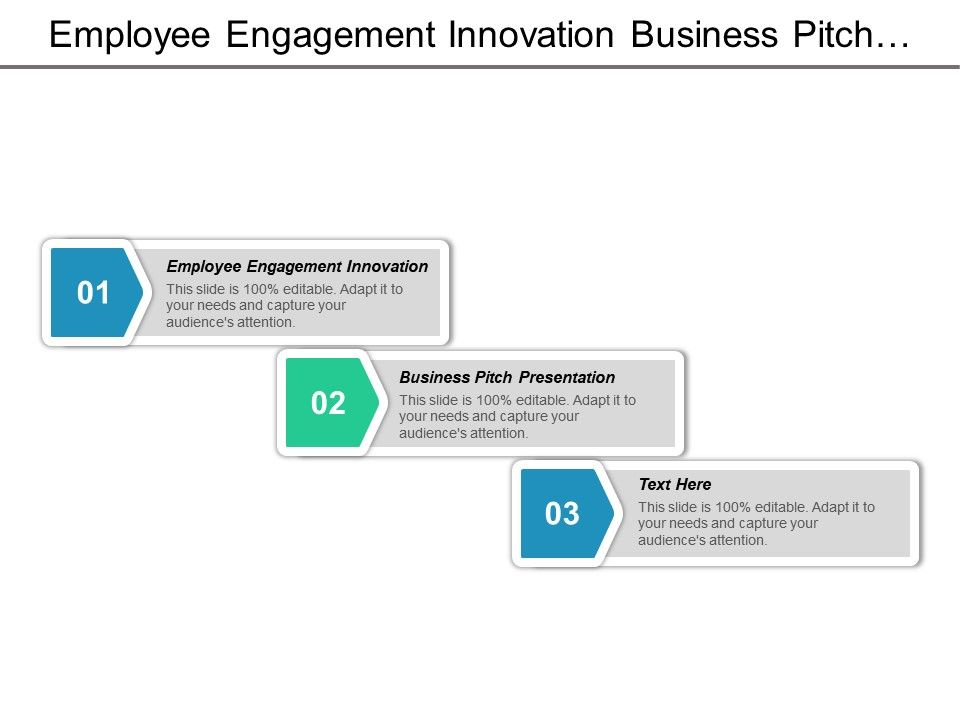 employee engagement innovation business pitch presentation agency