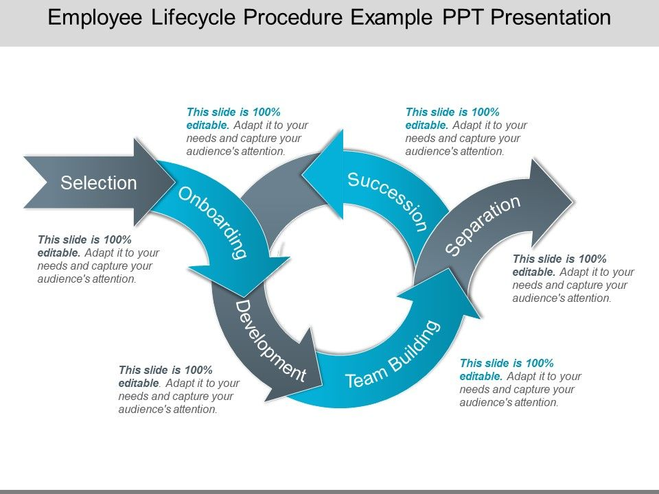 Employee Lifecycle Procedure Example Ppt Presentation
