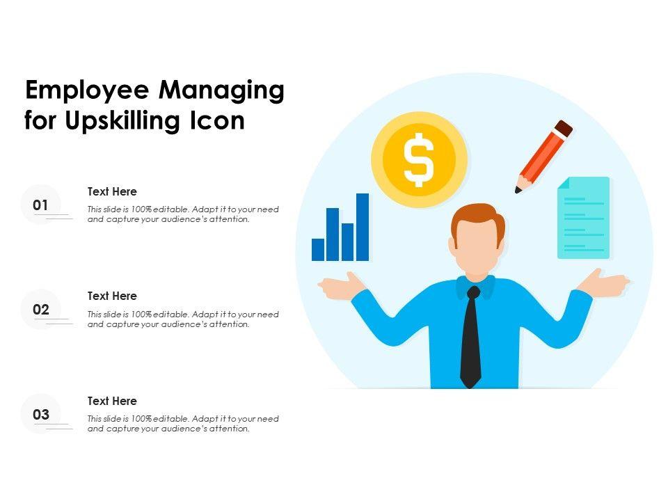 Employee Managing For Upskilling Icon