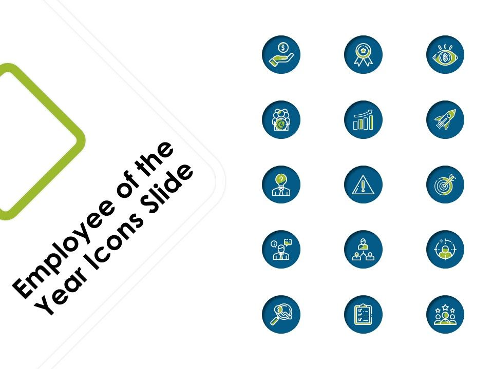 Employee Of The Year Icons Slide Ppt Powerpoint Presentation Examples