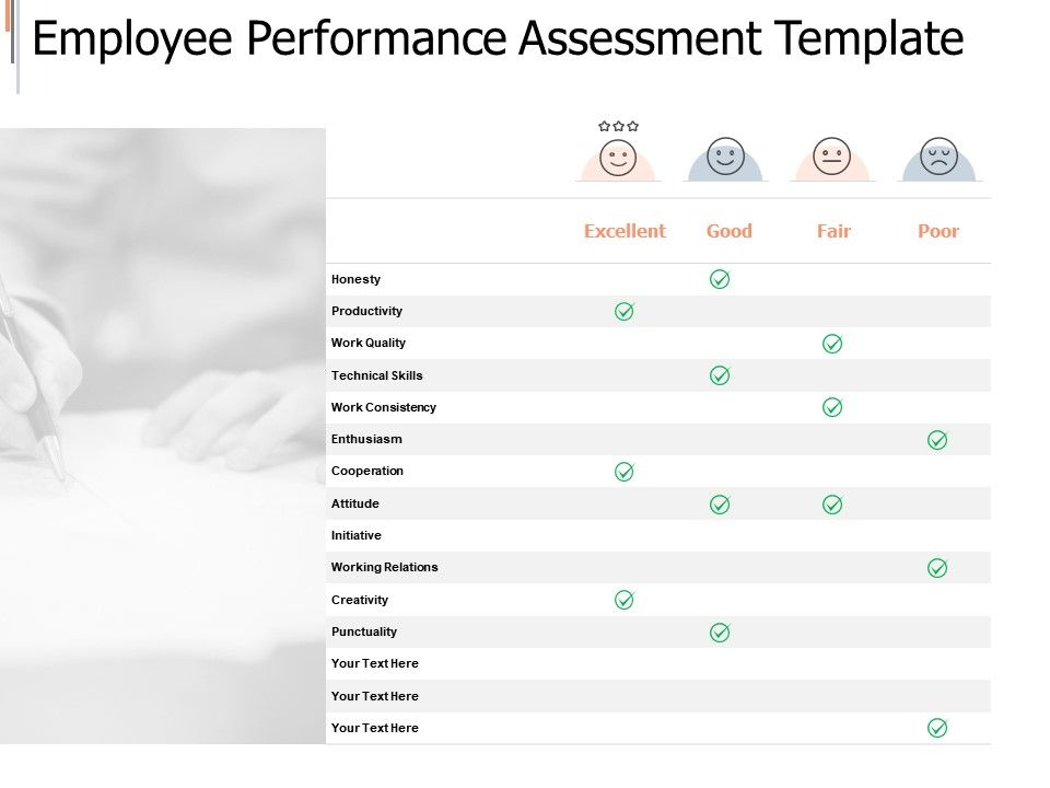 Employee Performance Assessment Template Excellent Ppt Powerpoint Presentation Infographics