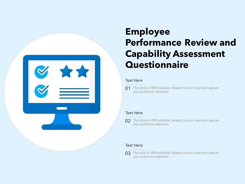 Employee Performance Review And Capability Assessment Questionnaire