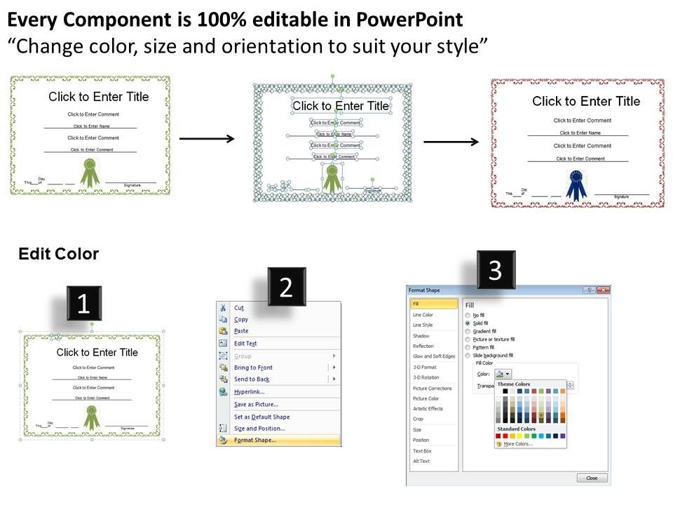 employee recognition certificate template powerpoint