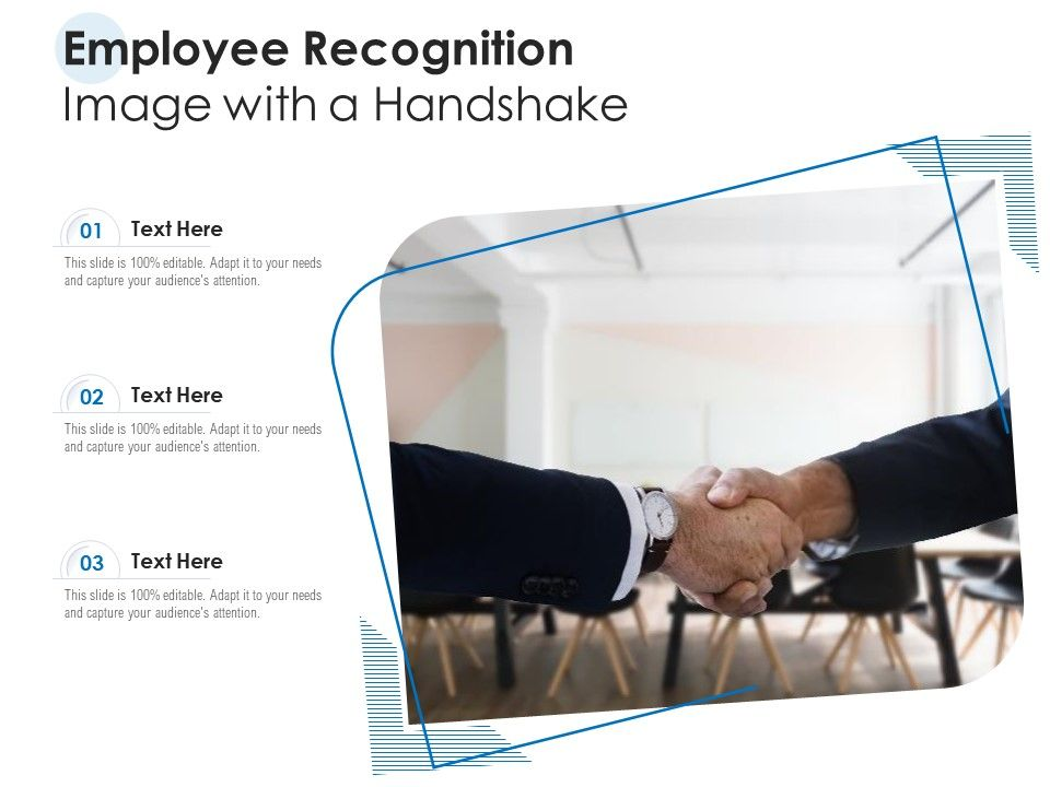 Employee Recognition Image With A Handshake