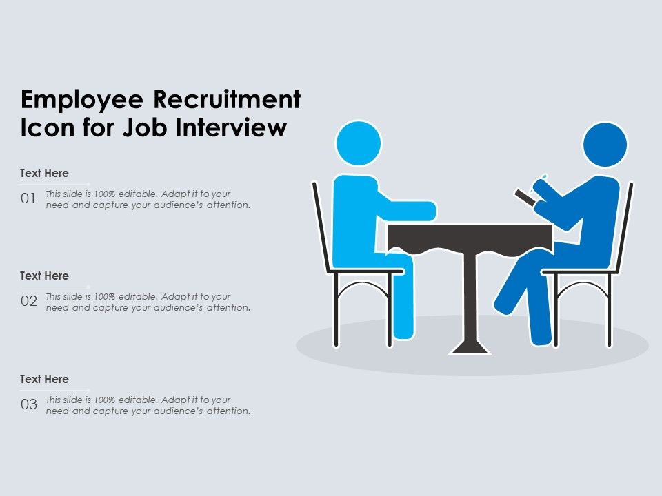 Employee Recruitment Icon For Job Interview