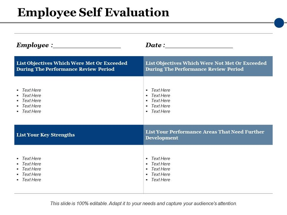 Employee Self Evaluation Ppt Powerpoint Presentation File