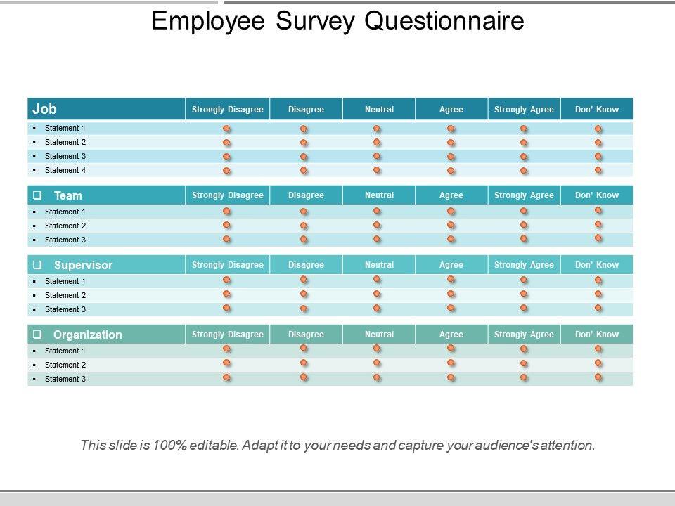 Employee survey questionnaire powerpoint slide show presentation employeesurveyquestionnairepowerpointslideshowslide01 employeesurveyquestionnairepowerpointslideshowslide02 toneelgroepblik Choice Image