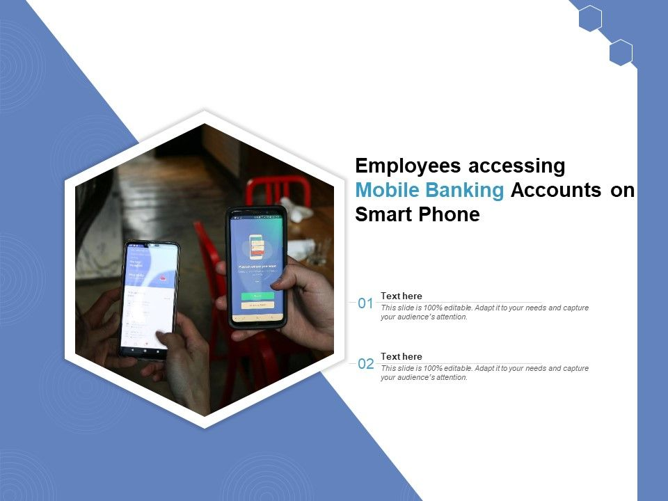 Employees Accessing Mobile Banking Accounts On Smart Phone