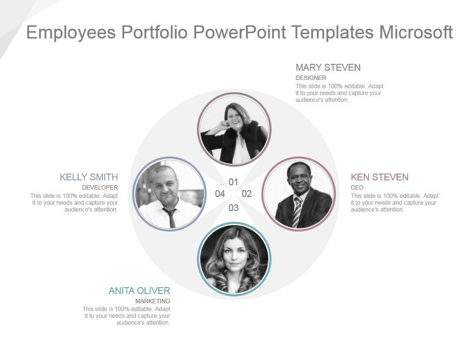 Employees Portfolio Powerpoint Templates Microsoft | PowerPoint