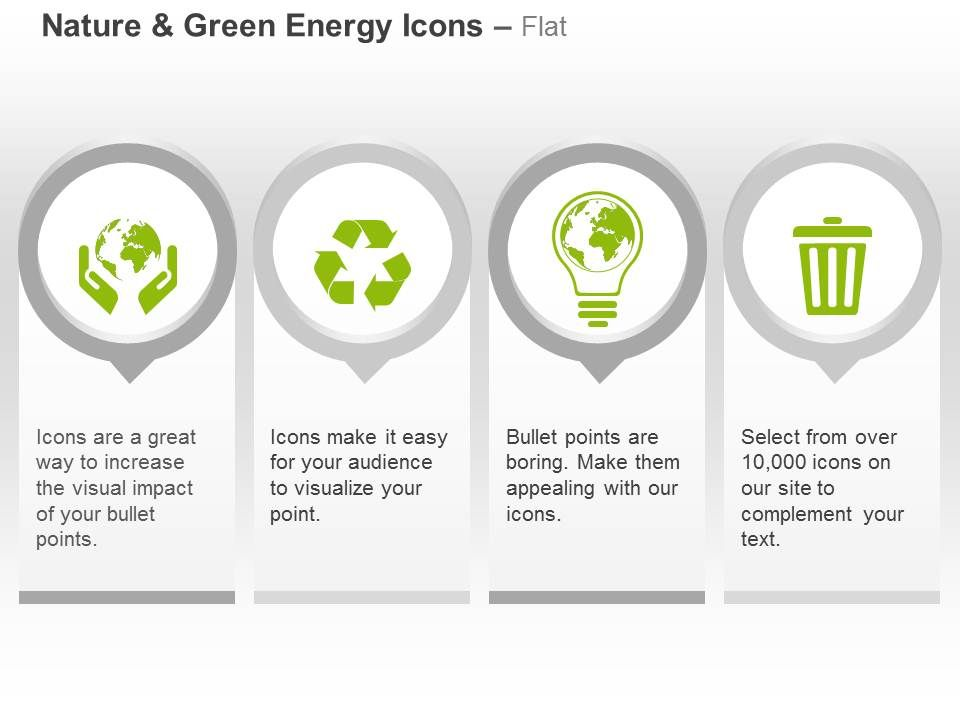 energy conservation recycle bulb waste management ppt icons graphics ...