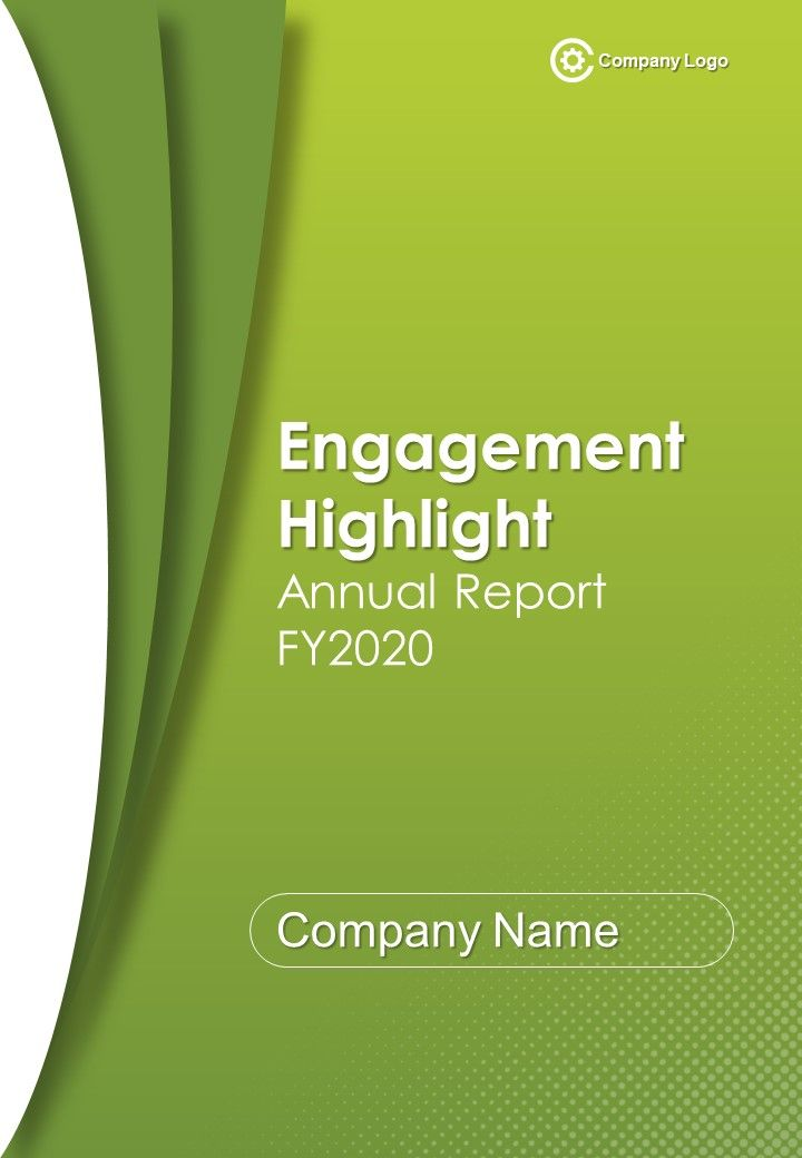 Engagement Highlight Annual Report PDF DOC PPT Document Report Template