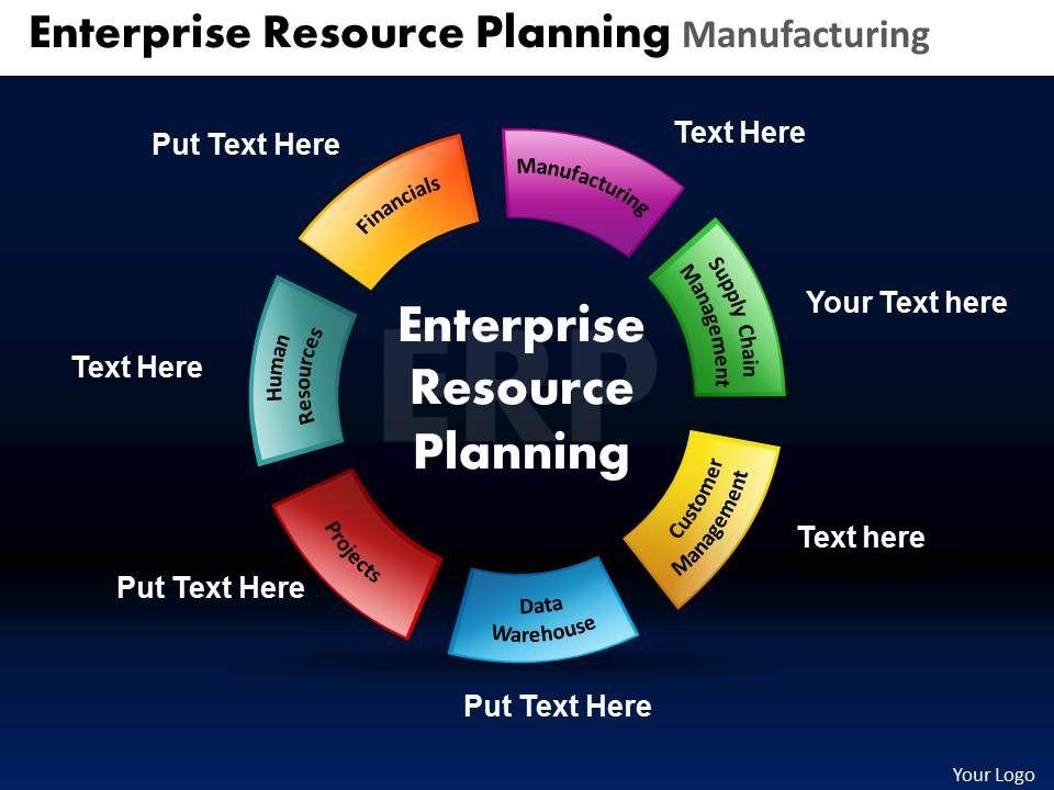 Enterprise resource planning ppt slide template.