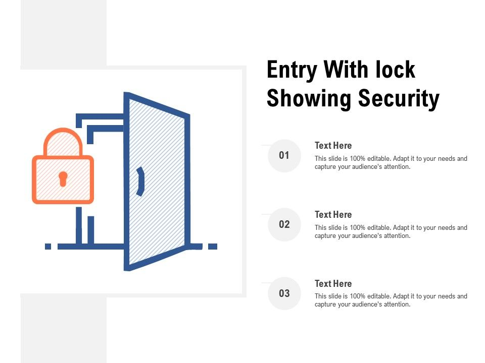 Entry With Lock Showing Security