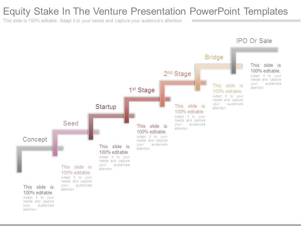 equity stake in the venture presentation powerpoint templates, Presentation