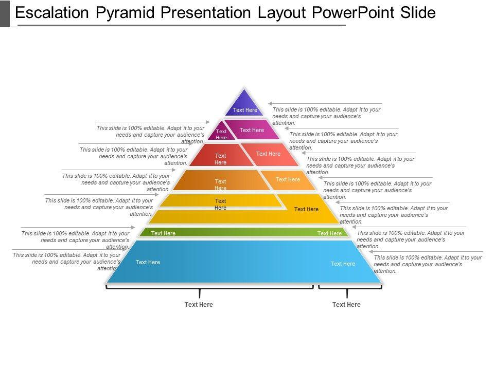 escalation pyramid presentation layout powerpoint slide powerpoint