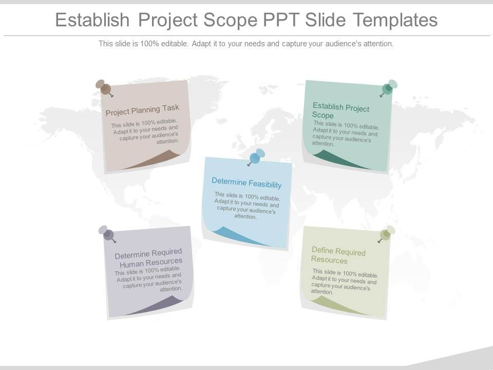 establish project scope ppt slide templates | presentation, Presentation templates