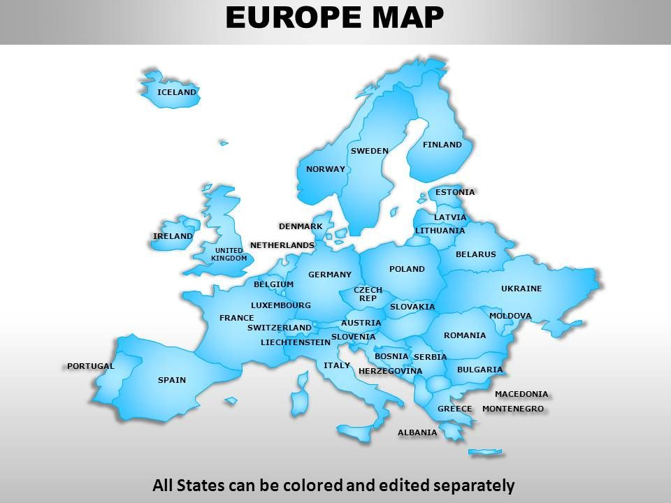 europe continents powerpoint maps presentation graphics