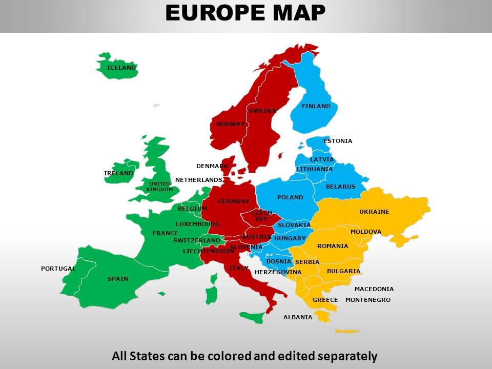 Europe Continents PowerPoint maps | Graphics Presentation ...