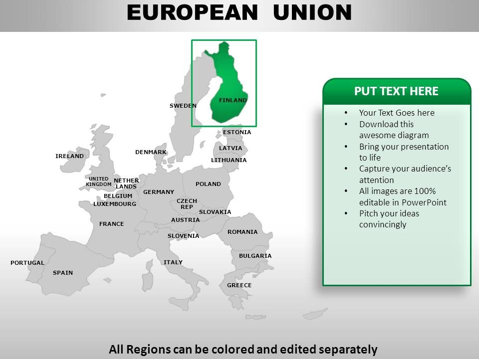 European Union Continents PowerPoint maps | Template ...