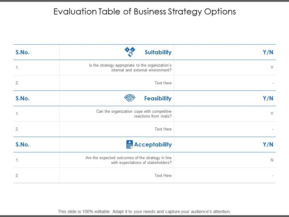 evaluation_table_of_business_strategy_options_Slide01
