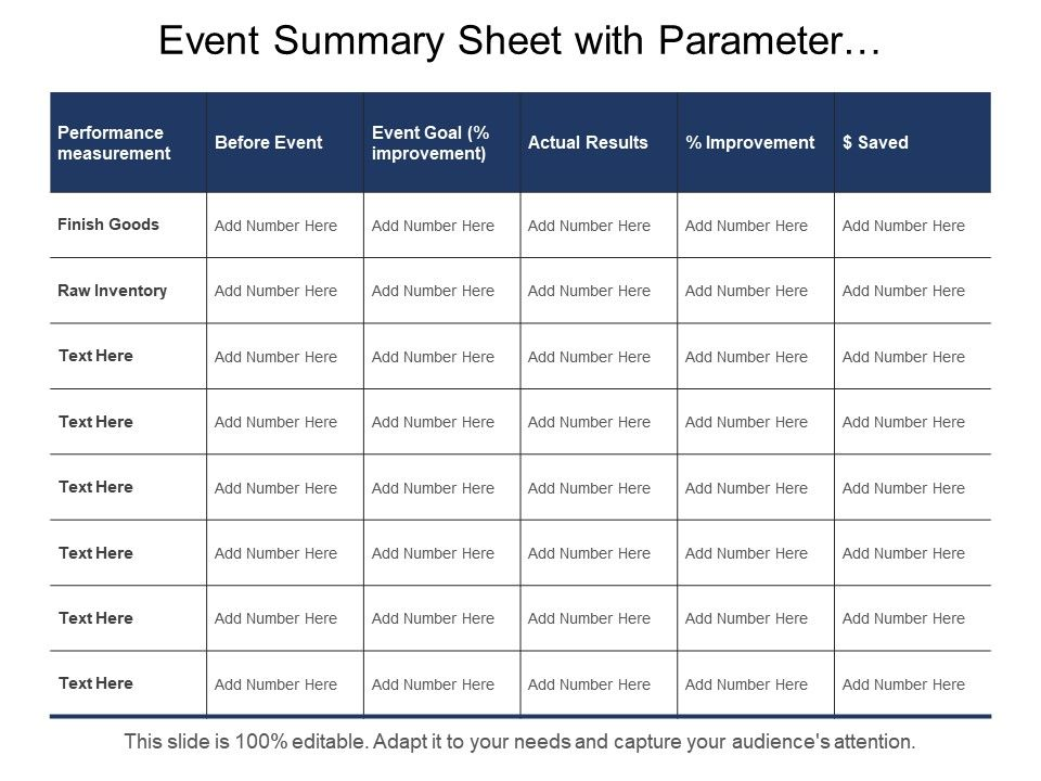 Summary Sheet Template from www.slideteam.net