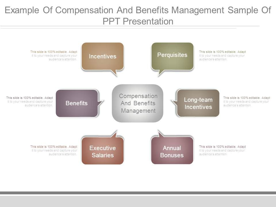 Example Of Compensation And Benefits Management Sample Of Ppt