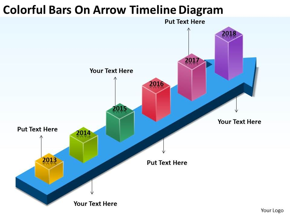 examples_of_business_processes_colorful_bars_on_arrow_timeline_diagram_powerpoint_templates_Slide01