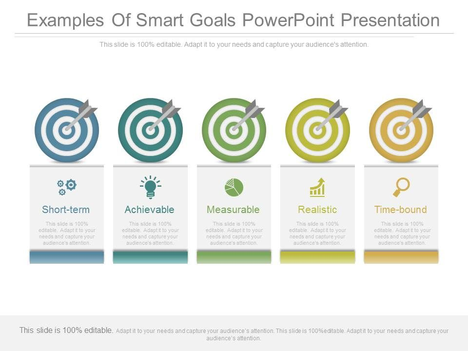 examples of smart goals powerpoint presentation powerpoint templates download ppt background. Black Bedroom Furniture Sets. Home Design Ideas