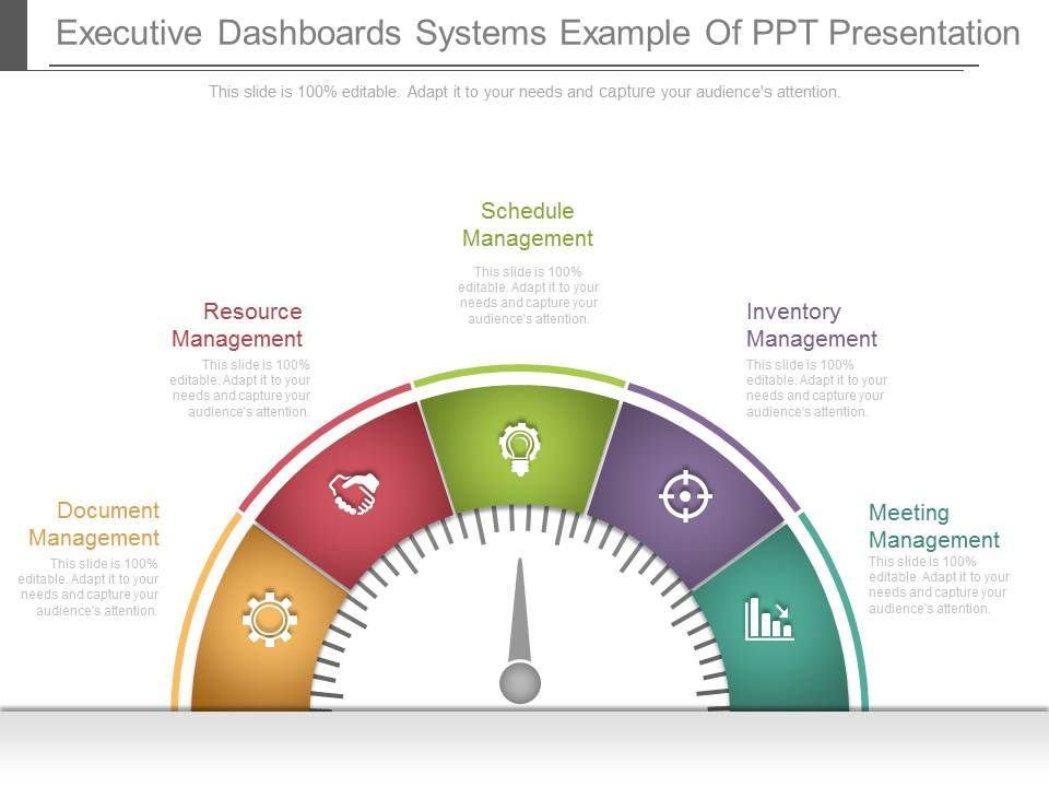 Executive Dashboards Systems Example Of Ppt Presentation - Executive dashboard template